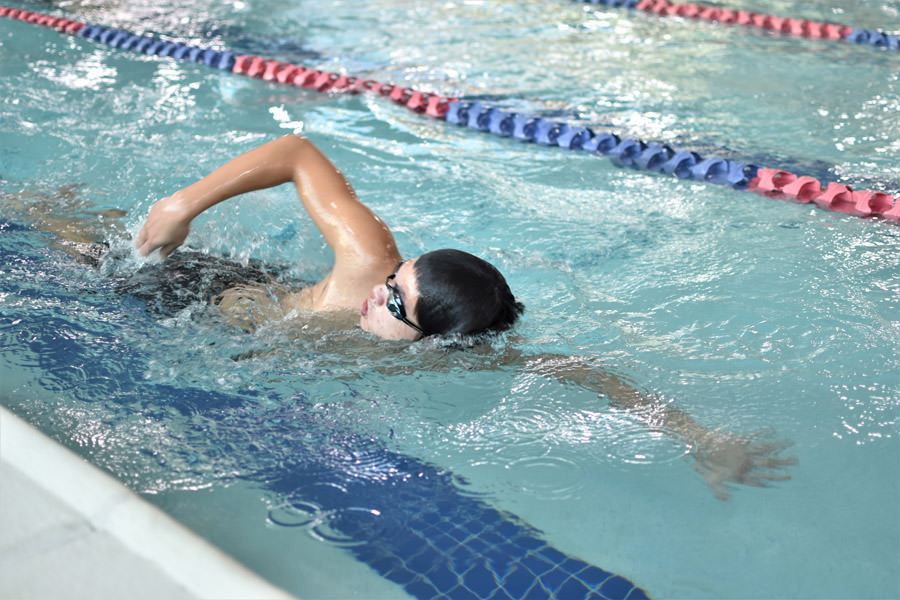Lap lane swimmer